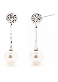 Nadri Pearl Drop Chain Earring