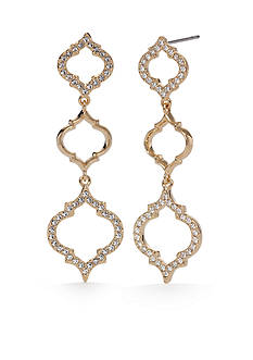 Nadri Gold-Tone Mandala Linear Earrings