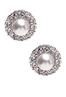 Nadri Small Pearl Framed Stud