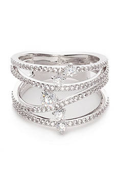 Nadri Silver-Tone Fluidity Wrap Ring