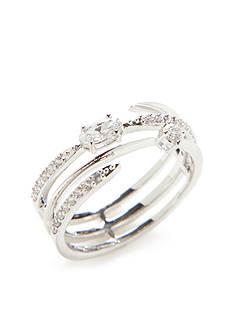 Nadri Silver-Tone Orbit Ring