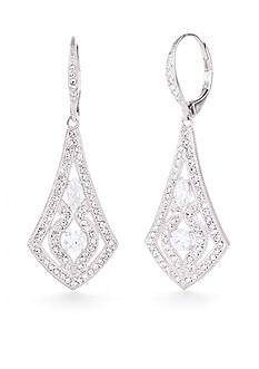 Nadri Ornate Lever Back Earring