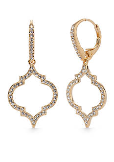 Nadri Gold-Tone Mandala Small Drop Earrings
