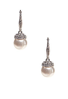 Nadri Pearl Drop with Pave Cap