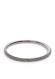Nadri Pave Black Crystal Bangle Bracelet