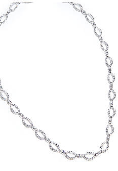 Nadri Pave Oval Link All Around Necklace