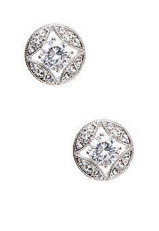 Nadri Stone Links Stud Earring