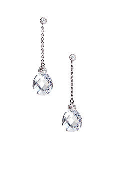 Nadri Hanging Briolette Cut Cubic Zirconia Drop Earring Set