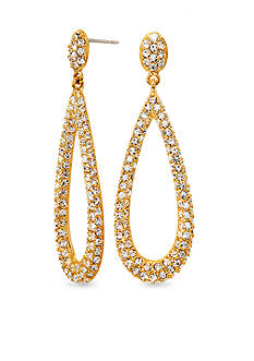 Nadri Gold Teardrop Earrings