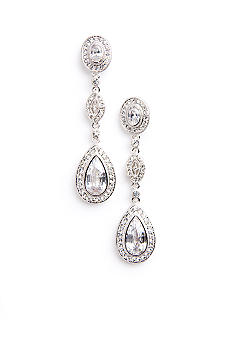 Nadri Crystal & CZ Framed Pear and Marquis Earring
