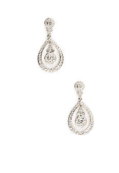 Nadri Open Round Drop Earrings