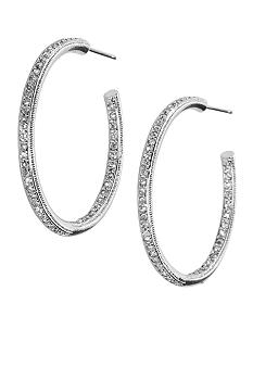 Nadri Medium Inside Outside Hoop Earring