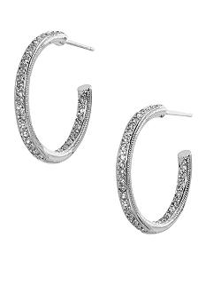 Nadri Small Inside Outside Hoop Earrings