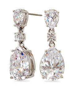 Nadri Large Pear Linear Drop Earrings