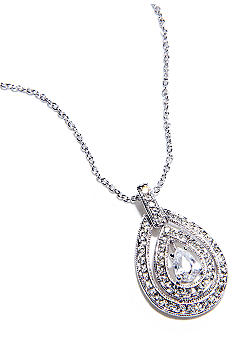 Nadri Small Open Teardrop Pendant