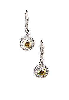Nadri Stone Links Round Drop Earring
