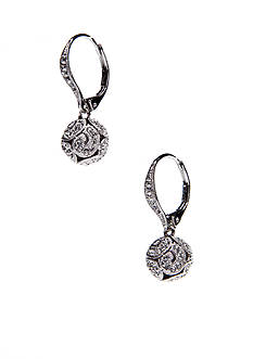 Nadri Swirling Openwork Bead Earrings