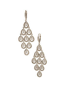 Nadri Tiered Water Drop Chandelier Earring