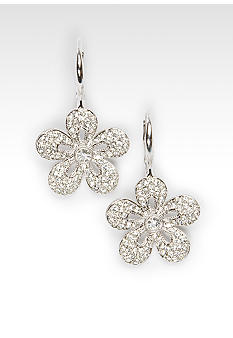 Nadri Pave 5 Petal Earrings