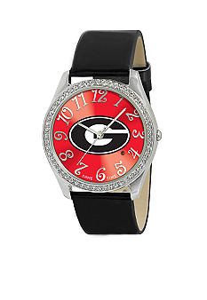 Game Time® Georgia Black Glitz Watch