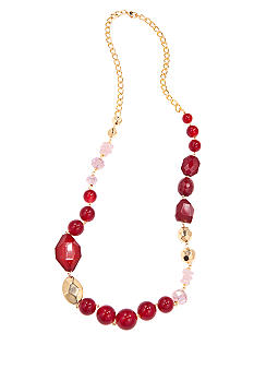New Directions Long Red Multi Necklace