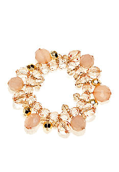 New Directions® Gold Stretch Beaded Bracelet