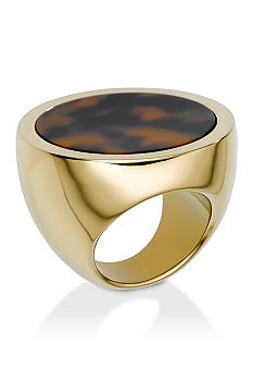 Michael Kors Jewelry Tortoises Acetate Disc Ring Size 8