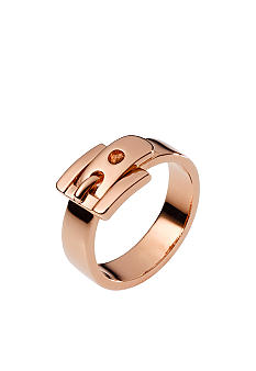 Michael Kors Jewelry Rose Gold Tone Buckle Ring Size 6