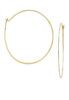 Michael Kors Jewelry Goldtone Medium Whisper Hoop Earrings