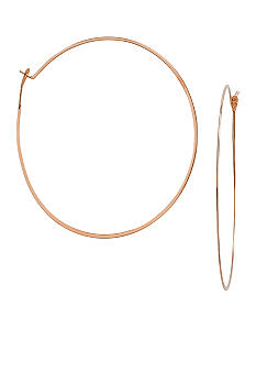 Michael Kors Jewelry Rose Gold Tone Medium Whisper Hoops