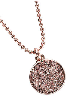 Michael Kors Jewelry Long Chain Pave Disc Necklace