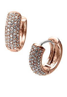 Michael Kors Jewelry Rose Gold Color Huggie Earring