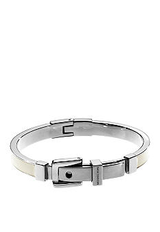Michael Kors Jewelry Ecru Silver Bangle