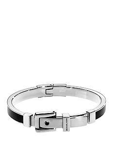 Michael Kors Jewelry Black Silver Bangle