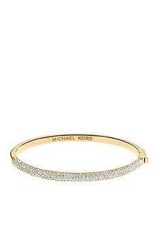 Michael Kors Jewelry Gold Pave Hinge Bangle