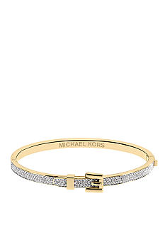 Michael Kors Jewelry Gold Tone Buckle Bangle