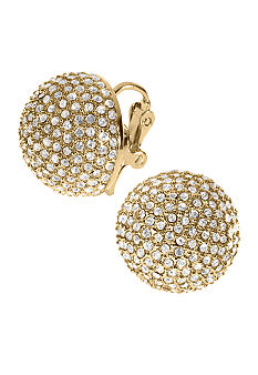 Michael Kors Jewelry Gold Tone Dome Earrings