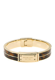 Michael Kors Jewelry Tort Plaque Bangle Bracelet