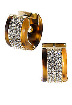 Michael Kors Jewelry Tort Clear Pave Earrings