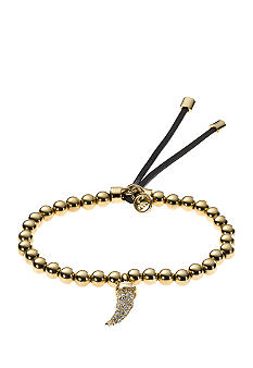 Michael Kors Jewelry Gold and Clear Tusk Bracelet