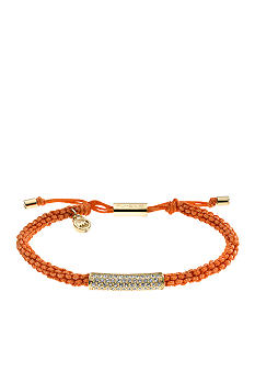 Michael Kors Jewelry Orange Macrame and Barrel Bracelet