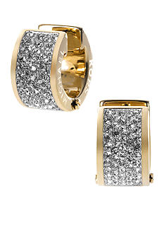Michael Kors Jewelry Gold Tone Huggie Hoop Earrings