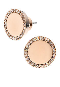 Michael Kors Jewelry Rose Gold Slice Studs