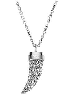 Michael Kors Jewelry Clear Mini Tusk Necklace