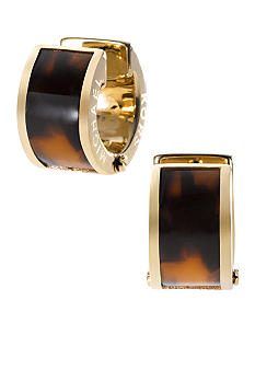 Michael Kors Jewelry Tortoise Barrel Huggie Earring