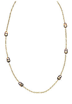 Michael Kors Jewelry Gold and Tortoise MK Station Necklace