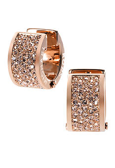 Michael Kors Jewelry Rose Gold Pave Huggie Earring