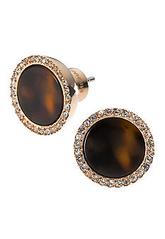 Michael Kors Jewelry Rose Gold Tortoise Pave Slice Earring