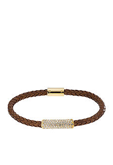 Michael Kors Jewelry Thin Braided Leather Bracelet