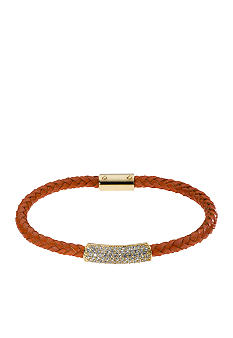 Michael Kors Jewelry Orange Leather Bracelet
